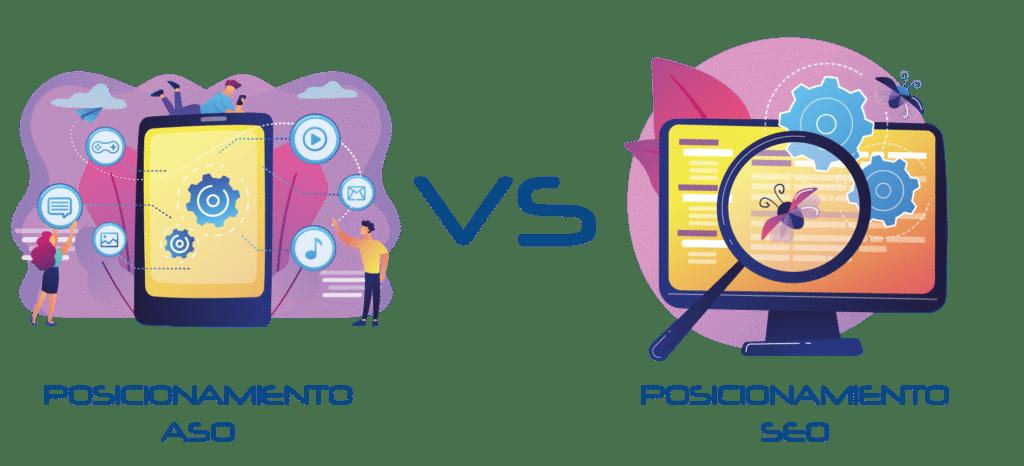 Direfencias entre posicionamiento ASO y SEO