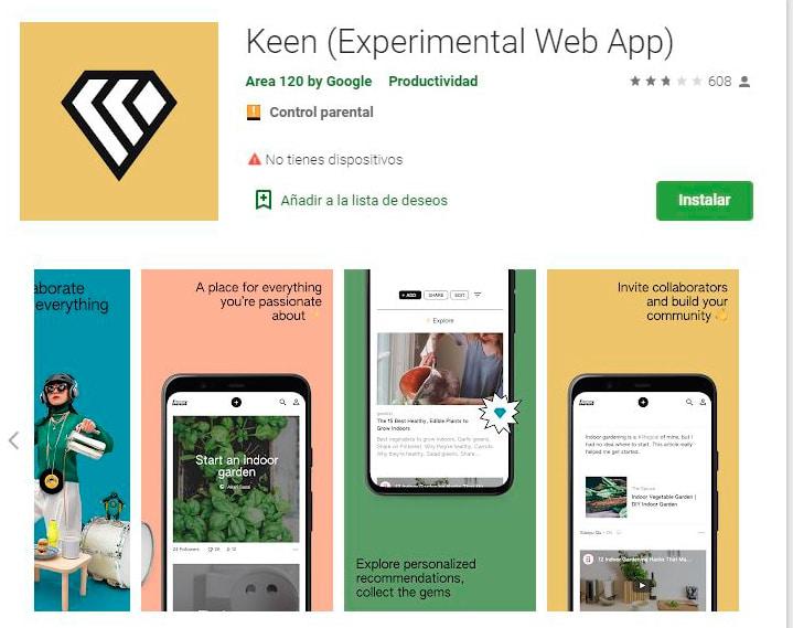 Spoiler Digital: app Keen Android